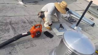 getlinkyoutube.com-How to properly Install a new roof jack on a flat roof , commercial roofing, stop water leaks.