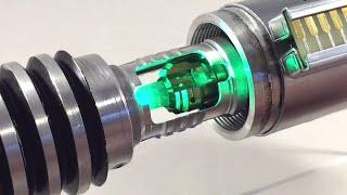 getlinkyoutube.com-Luke ROTJ V2 Custom Star Wars Lightsaber Spring Loaded Spinning Crystal Chamber Reveal PCv3.5
