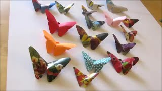 getlinkyoutube.com-Art and Craft: How to make origami butterfly 2
