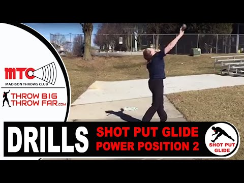 SHOT PUT DRILL: GLIDE Stop at Power