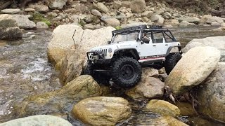 getlinkyoutube.com-RC Exploration: SCX10 Takes On Water And Rocks In Boone, North Carolina