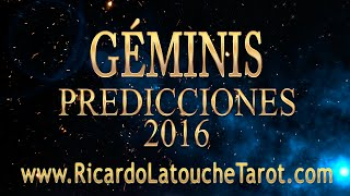getlinkyoutube.com-Video Predicciones 2016 GEMINIS Horoscopo | Ricardo Latouche Tarot