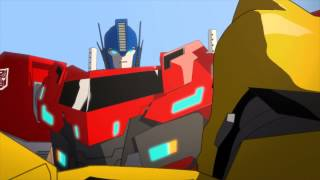 getlinkyoutube.com-Transformers Robots in Disguise Optimus Prime Appears