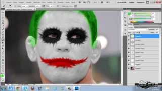 getlinkyoutube.com-Tutorial Photoshop CS5 - Maquiagem do Coringa (Joker)
