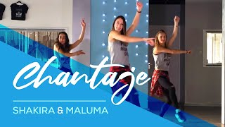 getlinkyoutube.com-Chantaje - Shakira ft Maluma - Easy Fitness Dance Choreography Zumba