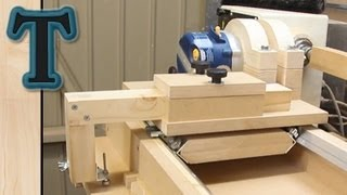 getlinkyoutube.com-Router Lathe Duplicator: Build Pt.2