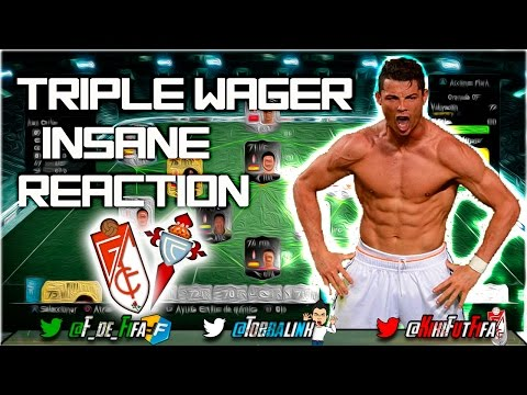 TRIPLE WAGER INSANE REACTION | FIFA 14 UT | @KikiFutFiFa VS @TOBBALink | Granada CF - R.Celta