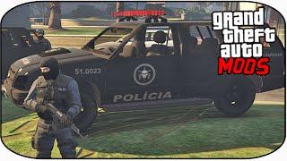 getlinkyoutube.com-ABORDAGENS DO BOPE ( TENENTE MADRUGA ). GTA V PC MOD - Chevrolet Blazer DO BOPE