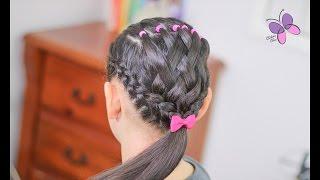 Cola con Tejido Facil - Stitched Ponytail | Peinados para Niñas | Peinados con Ligas