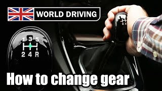 How to change gear in a manual car (palming method) - learning to drive a manual car