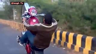 getlinkyoutube.com-INDIAN MOST FUNNY VIDEOS 2016 II WHATSAPP VIRAL TOP 10 BIKE STUNT BY ROYAL ENFIELD COMPILATION 2016