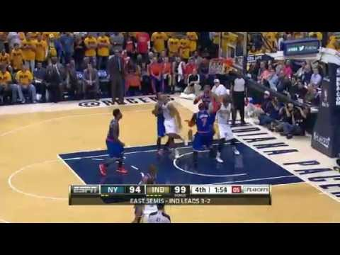 NBA CIRCLE - New York Knicks Vs Indiana Pacers Game 6 Highlights - 18 May 2013 NBA Playoffs