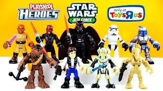 getlinkyoutube.com-Star Wars: Jedi Force w/ Han Solo Chewbacca Darth Vader & Jango Fett by Playskool Heroes