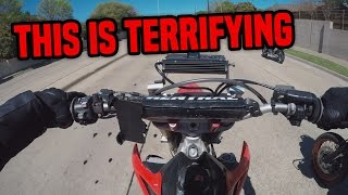 getlinkyoutube.com-FIRST RIDE on a HONDA CRF450 SUPERMOTO