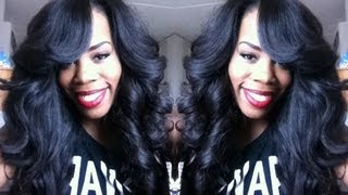 getlinkyoutube.com-•Hair Tutorial• Old School Quick Weave with DS Hair Extensions