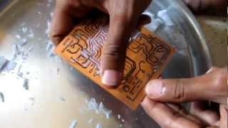 getlinkyoutube.com-Making of PCBs at home, DIY using inexpenive materials