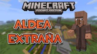 getlinkyoutube.com-Minecraft PE -  SEED CON ALDEA EXTRAÑA (Error de generación)