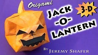 getlinkyoutube.com-Origami Jack-O-Lantern 3-D!