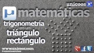 Imagen en miniatura para Trigonometría - Resolución de un triángulo rectángulo