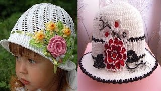 getlinkyoutube.com-Sombreros tejidos en crochet  diseños