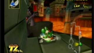 getlinkyoutube.com-Mario Kart Wii - Secret Areas accessible using Moon Jump hack