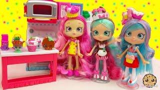 getlinkyoutube.com-Chef Club Season 6 Shopkins Shoppies Doll Peppa Mint, Jessicake, Bubbleisha with Exclusives
