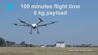 getlinkyoutube.com-Professional hexacopter drone-  Daedalus by FAE - 100 minutes flight time