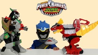 getlinkyoutube.com-Power Rangers Dino Super Charge Rumble N Roar T-Rex Zord Toys Unboxing Playing Ckn Toys