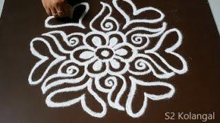 getlinkyoutube.com-easy freehand rangoli designs - freehand muggulu for sankranthi - freehand kolam