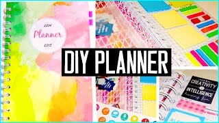 getlinkyoutube.com-DIY PLANNER! Cover, decorations, stickers & more! DIY back to school supplies