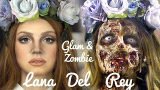 getlinkyoutube.com-Lana Del Rey Zombie Makeup transformation