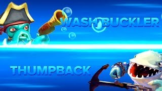 getlinkyoutube.com-Skylanders Swap Force PVP - Wash Buckler VS Thumpback