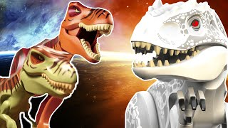 getlinkyoutube.com-LEGO Indominus Rex VS T-Rex (dinosaur revolution tribiute)