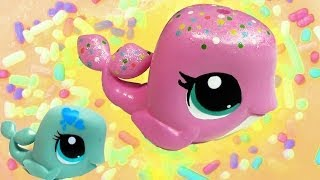 getlinkyoutube.com-DIY Custom Rainbow Sprinkle Cake LPS Whale Inspired Do It Yourself Painting Littlest Pet Shop Video