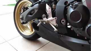 getlinkyoutube.com-Honda CBR1000RR ABS 2009 Genuine Titanium Taylor Made Muffler Sound Noise