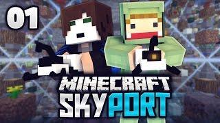 getlinkyoutube.com-EIN PROJEKT MIT UNGE & GLP - Minecraft SkyPort #01 | ungespielt