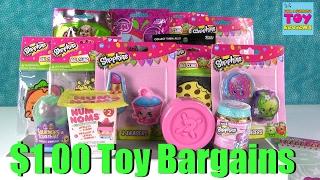 getlinkyoutube.com-Shopkins Lalaloopsy Num Noms & More $1 Toys Bargains | PSToyReviews
