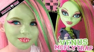getlinkyoutube.com-Venus McFlytrap Monster High Doll Costume Makeup Tutorial for Cosplay or Halloween