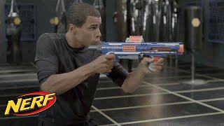 getlinkyoutube.com-NERF - John Brenkus From Sport Science Shows Off The Rampage & Retaliator Blasters