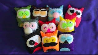 getlinkyoutube.com-Owl Felt Plushies (Tutorial)
