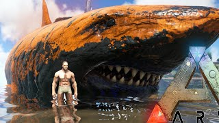 getlinkyoutube.com-Ark Survival Evolved - MEGA MEGALODON, GIANT ANGLER FISH BATTLE (Ark Modded Gameplay)