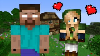 getlinkyoutube.com-If a Girl fell in Love with Herobrine - Minecraft