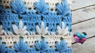 getlinkyoutube.com-Crochet : Point magnifique facile / Punto maravilloso tejido a crochet
