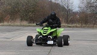 getlinkyoutube.com-Yamaha Raptor Street Quad- FZR600 4 Zylinder