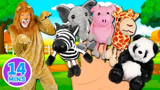 Animals Finger Family Song - Mega Finger Family Collection Part 2! Learn to count with the animals