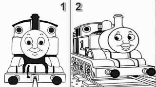 getlinkyoutube.com-How to Draw Thomas The Train Engine from Thomas and Friends Cartoon Series - Video