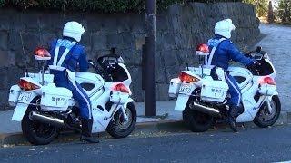 getlinkyoutube.com-交機 白バイ 二台同時緊急走行!! 違反者取締の様子 [HD] Japan police motorcycle emergency vehicle!!
