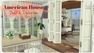 getlinkyoutube.com-Sims 4 - American Style House (Build & Decoration) Part 2/4