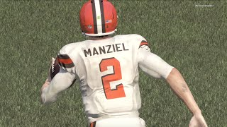getlinkyoutube.com-JOHNNY FOOTBALL! SPECTACULAR TD RUN! Madden 16 Online Gameplay