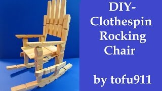 getlinkyoutube.com-How to make a Clothespin Rocking Chair